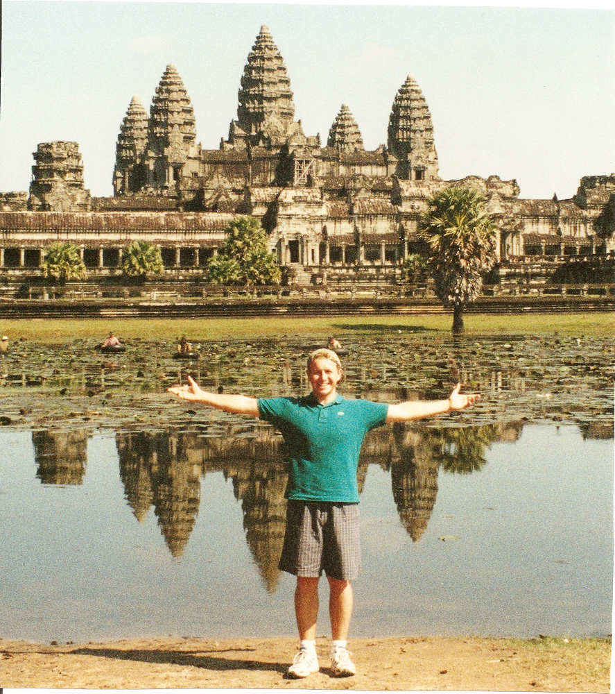 Angkor, Cambodia. A thin me at Angkor Wat, the Worlds largest religious structure