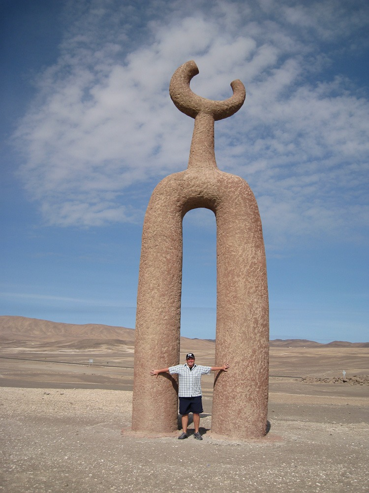 Arica Pampa Chaca, Chile. The cool Tutelar figures in the desert
