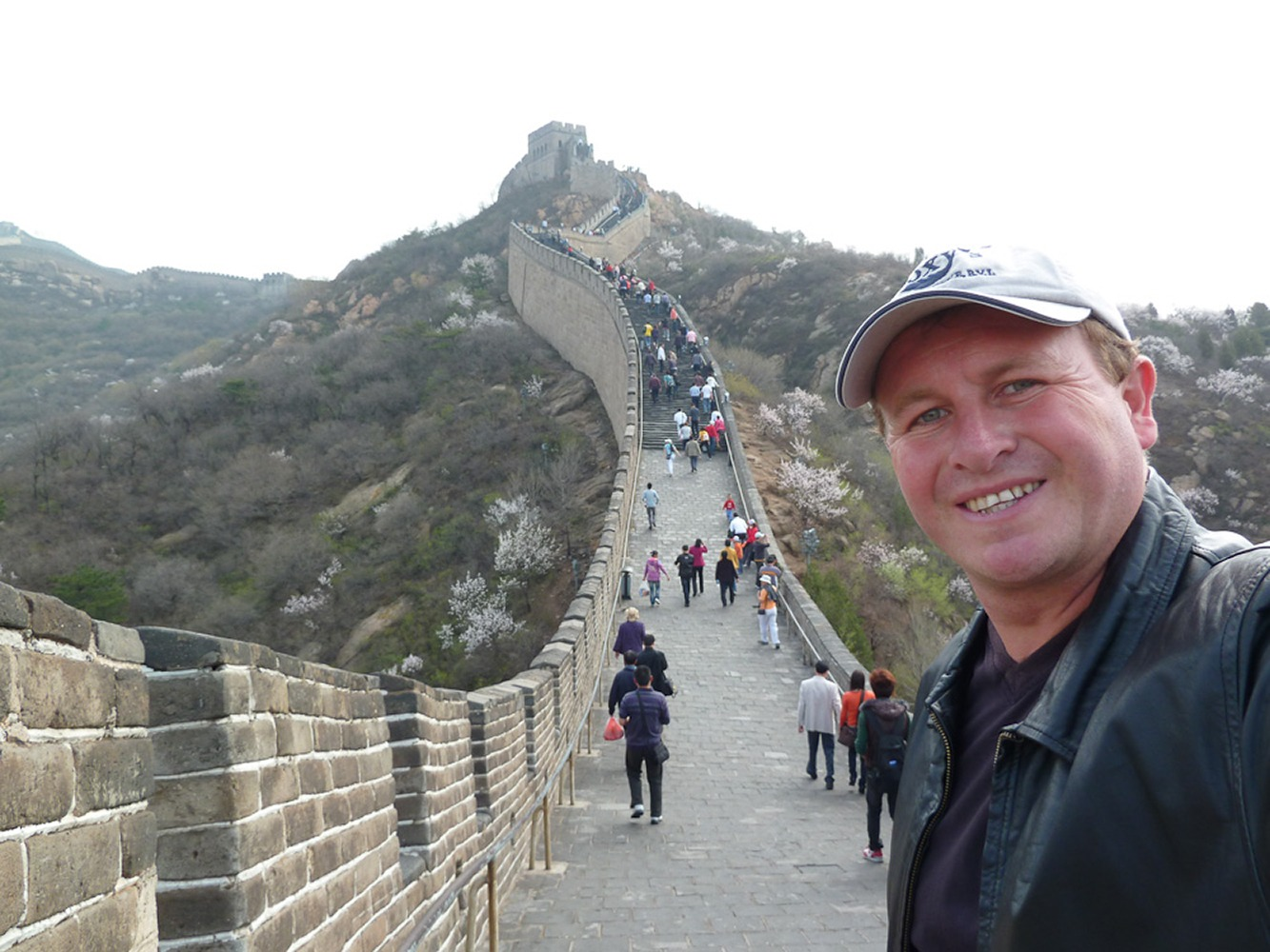 Beijing, Badaling, China. The incredible Great Wall which is 13,170 miles long