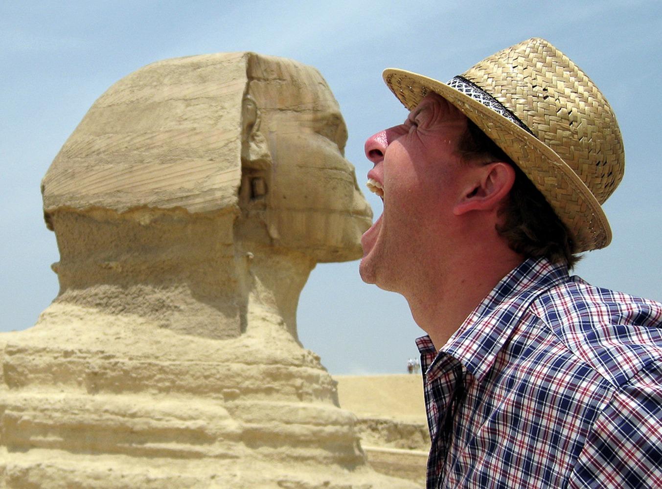 Giza, Egypt. I Sphinx I was hungry! :)