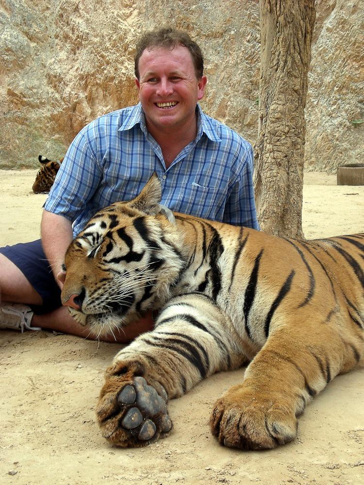 Kanchanaburi, Thailand. My 39th birthday at the Tiger temple
