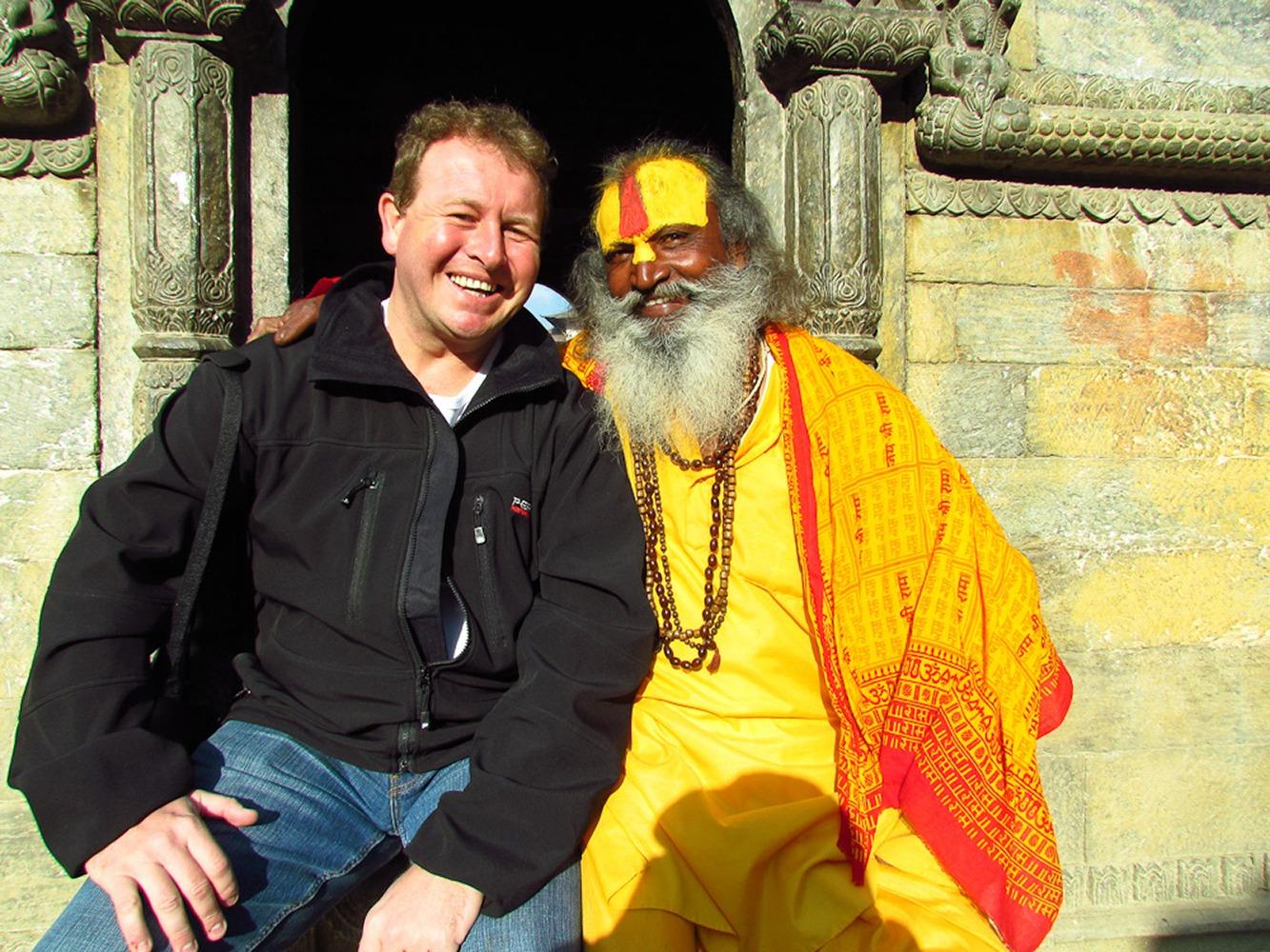 Kathmandu, Nepal. Me and one of the Simpsons! :)