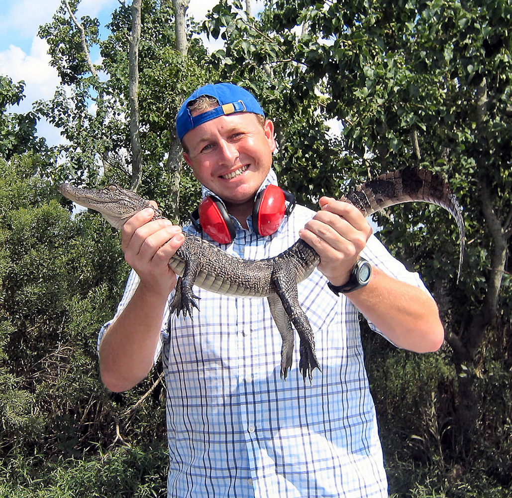 Louisiana, USA. Me and a baby Gator in the swamp