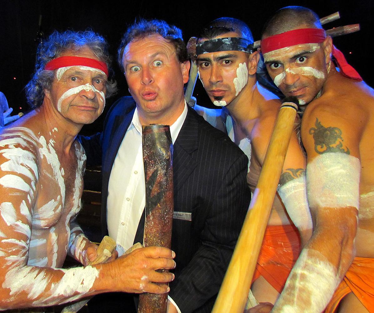 Melbourne, Australia. Me and the Aborigine boys
