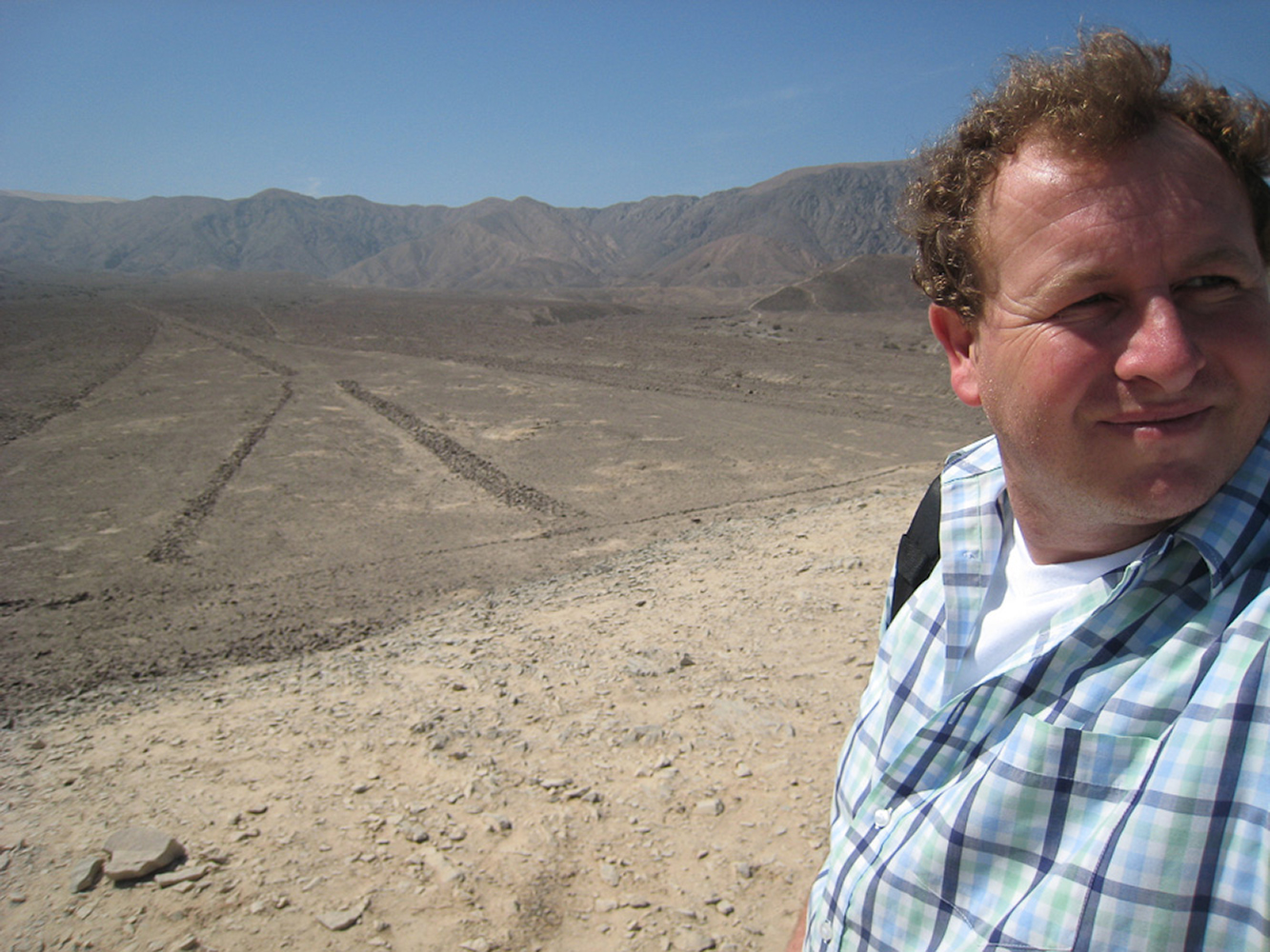 Nazca, Peru. Alien landing site at the mysterious Nazca lines