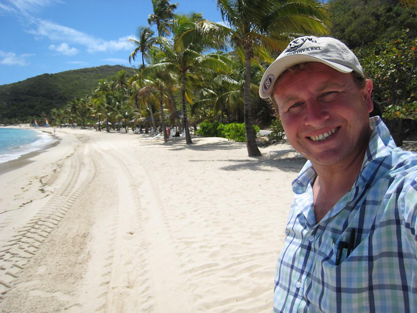Peter Island, British Virgin Islands. Beautiful Deadmans beach