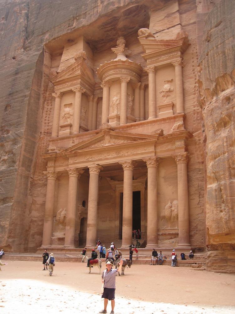 Petra, Jordan. The facade of El Khazneh, the Treasury