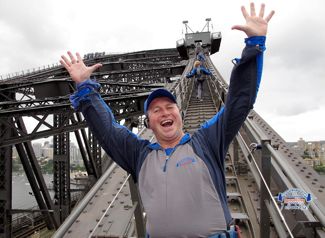 Sydney, Australia. Climbing the famous Sydney harbour bridge