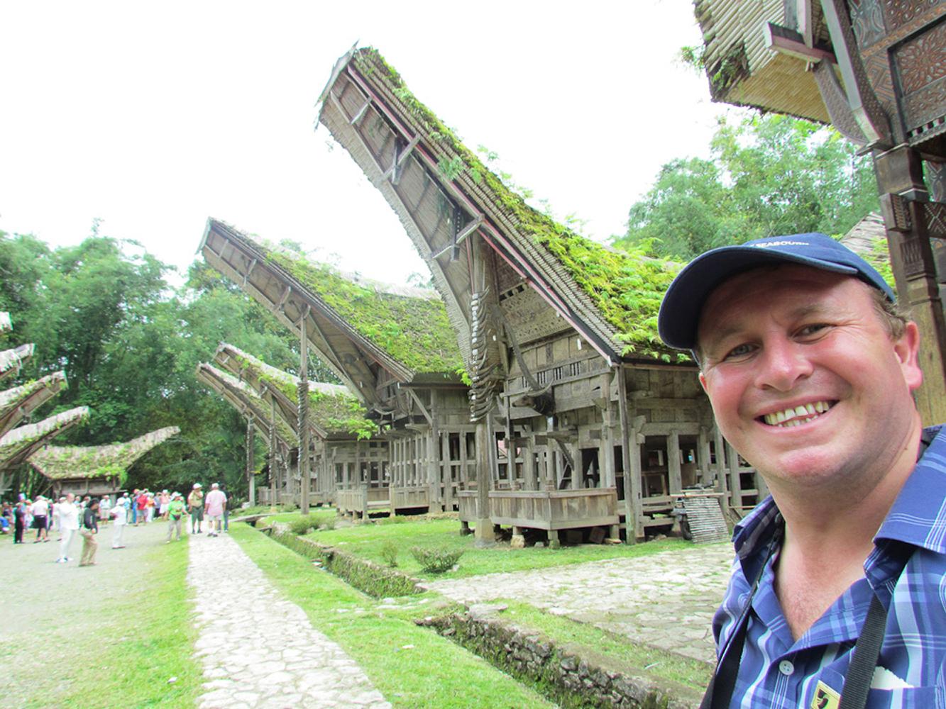 Tana Toraja, Sulawesi, Indonesia. The intriguing spirit boat houses
