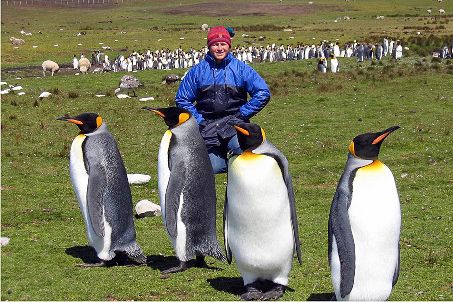 Volunteer Point, Falkland Islands. I was King for a day!