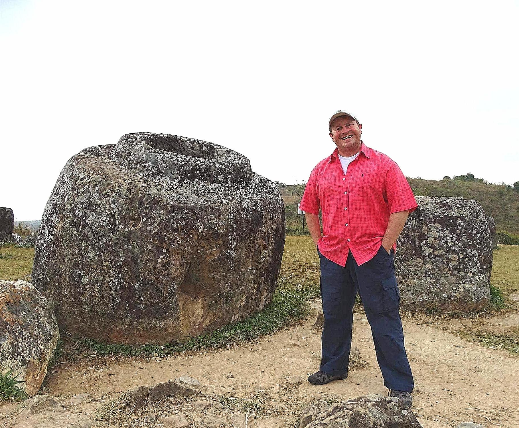 Ban Phonsavan, Laos. The eerie 2,500 year old, 'Plain of Jars'