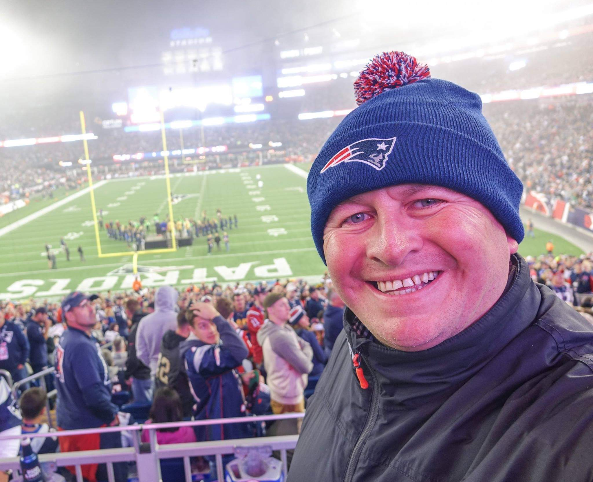Boston, USA. Watching the mighty New England Patriots