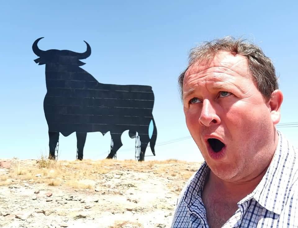 Castile and Leon, Spain. The iconic Osborne Bull billboards always scare me!
