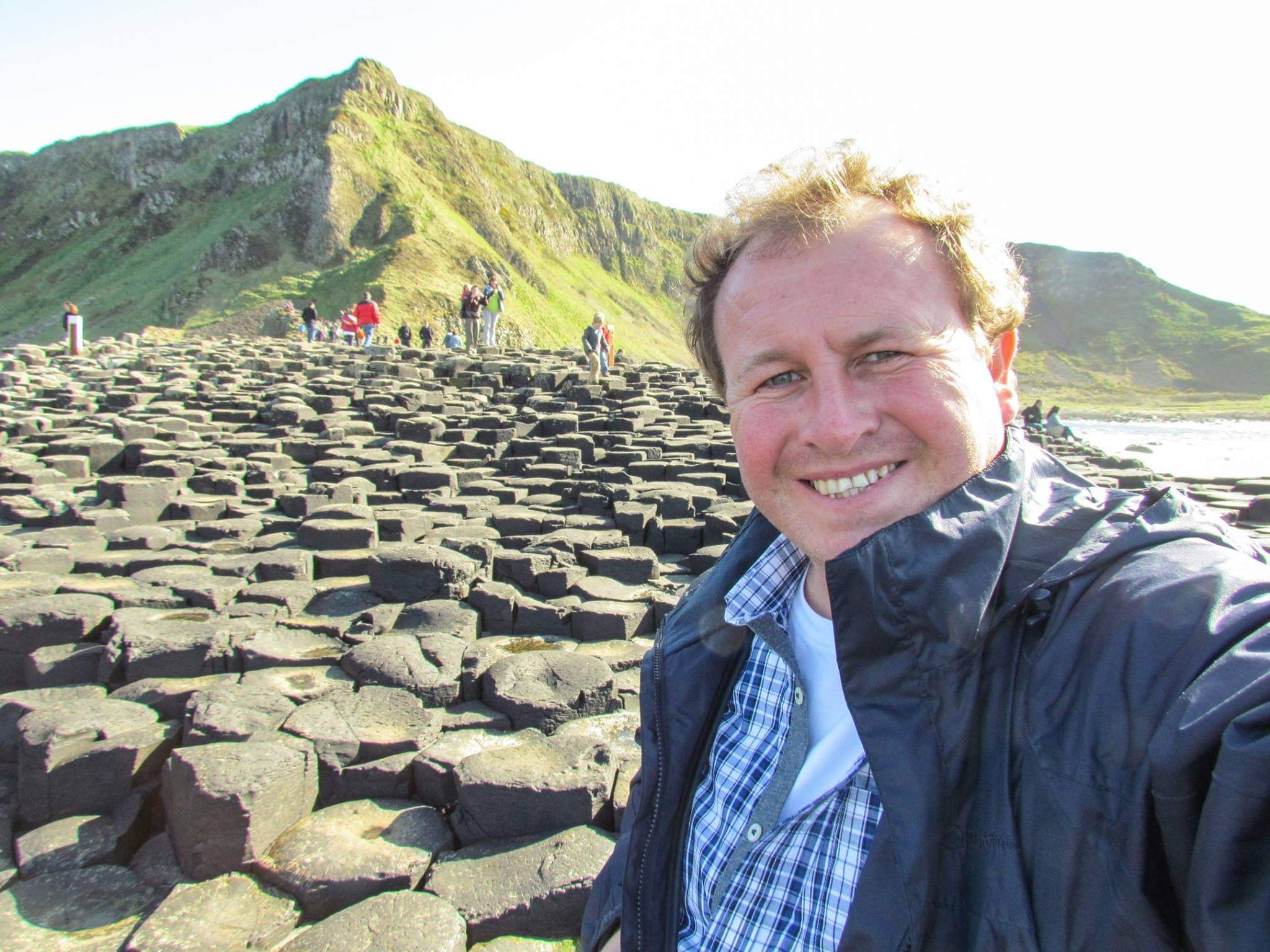 Giant's Causeway, Northern Ireland. The geological wonder of hexagonal tubes
