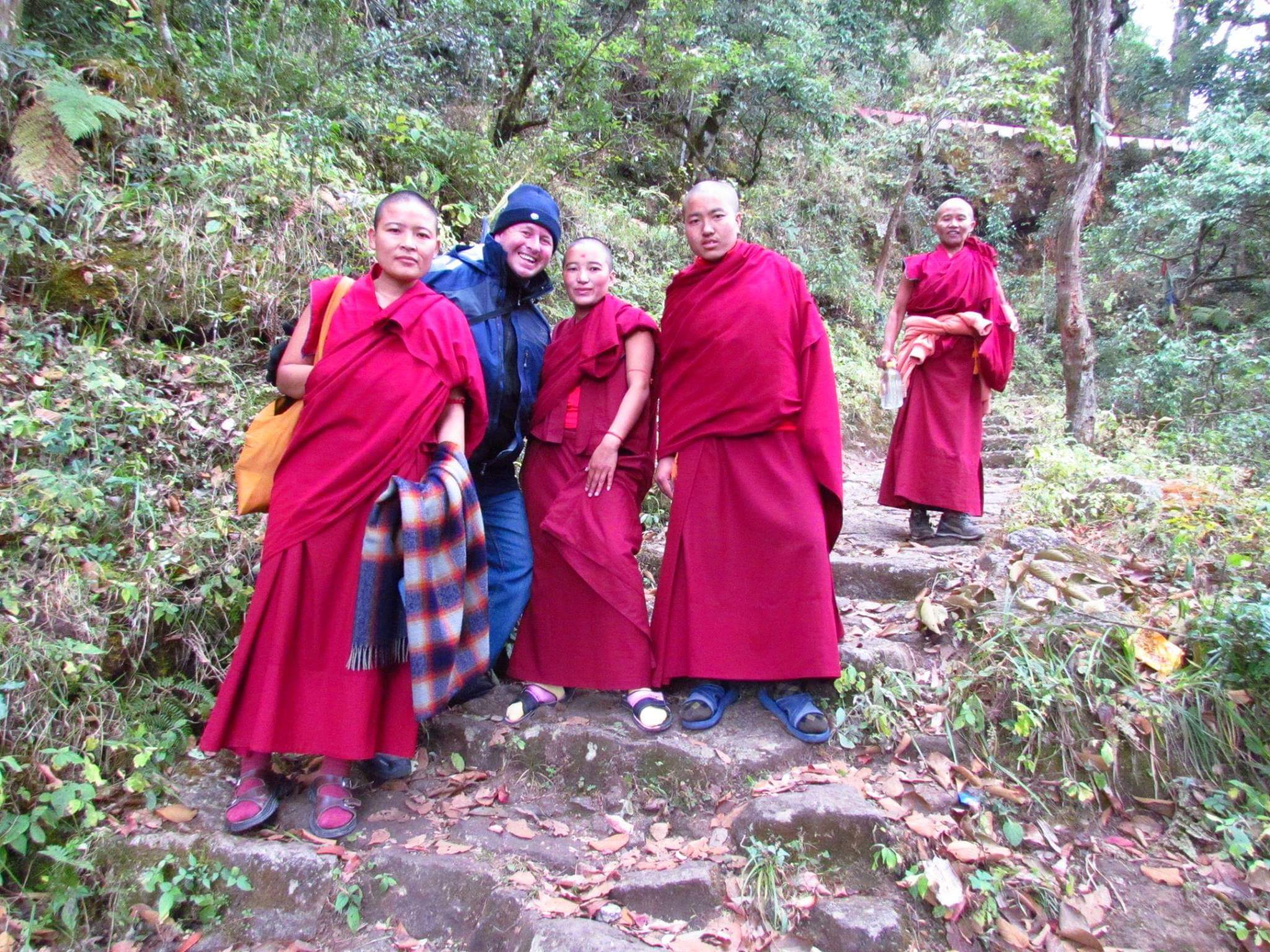 Lumbini, Nepal. Hiking with the monks to the Birthplace of Lord Buddha
