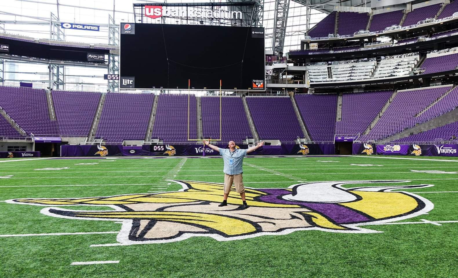 Minneapolis, USA. Stood right in the middle of the 50 yard line at the US Bank Stadium