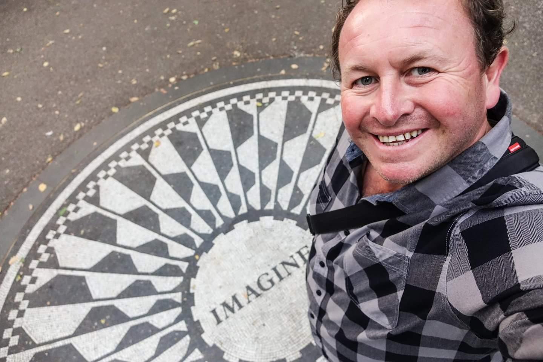 New York, USA. Thinking of John Lennon in central park