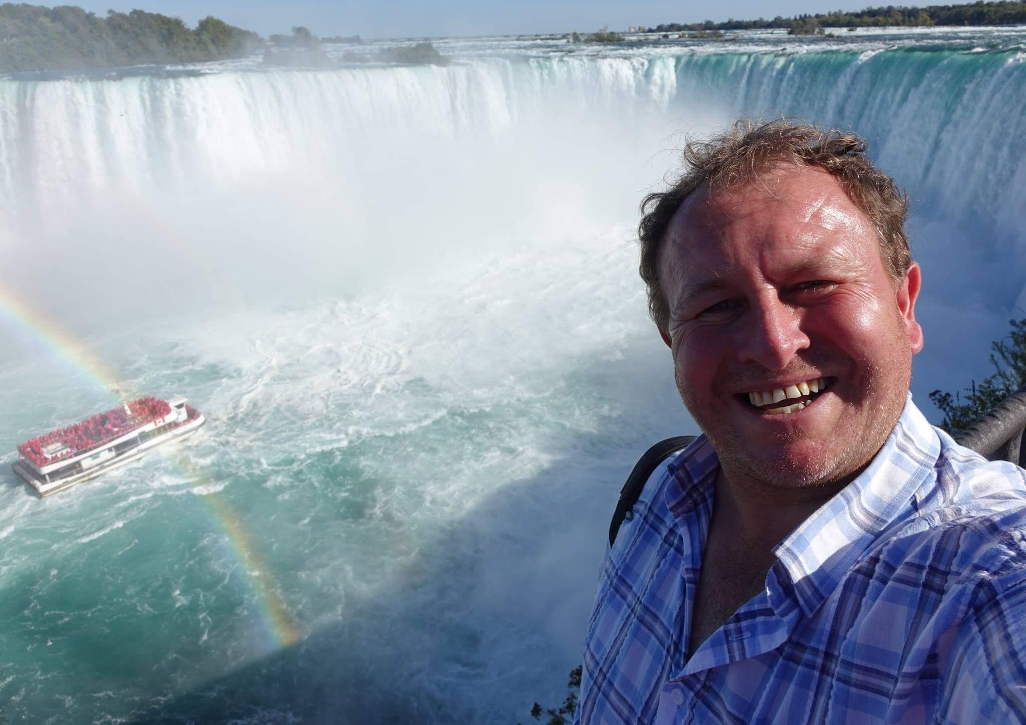 Niagara Falls, Canada. A beautiful day at the impressive Horseshoe Falls