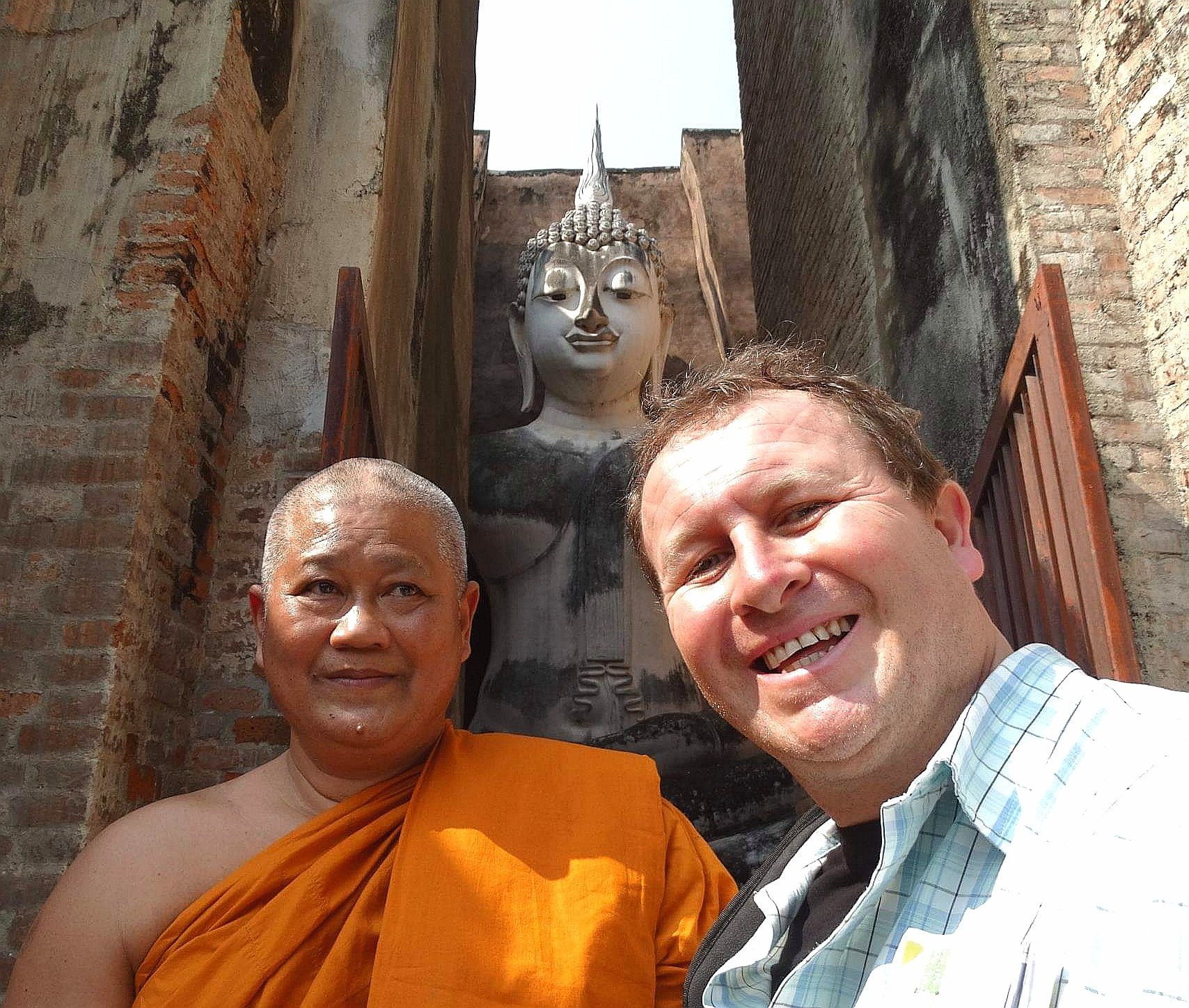 Sukhothai, Thailand. Enigmatic Wat Si Chum temple